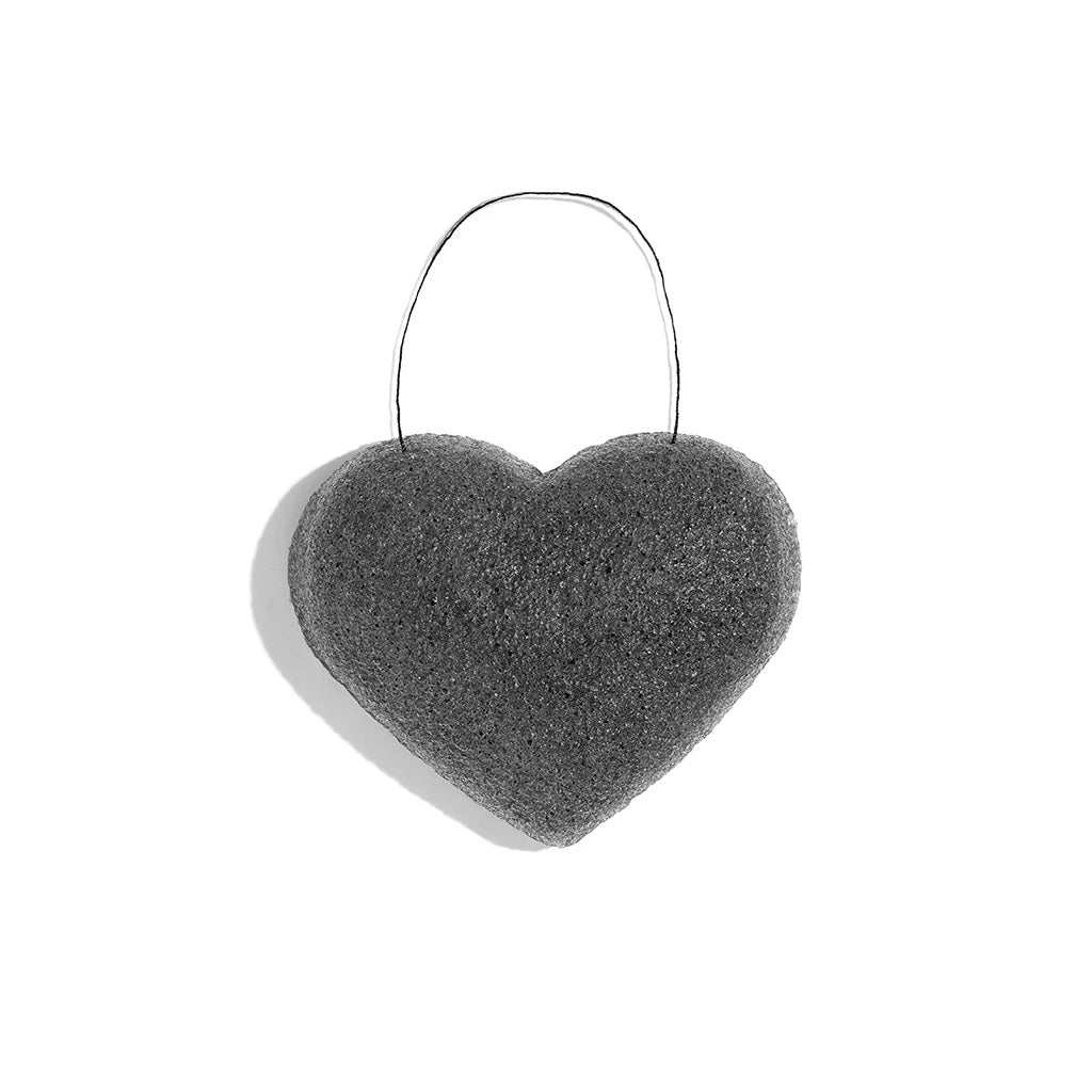 ONE LOVE ORGANICS -  The Cleansing Sponge Bamboo Charcoal Heart