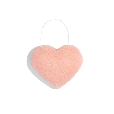 ONE LOVE ORGANICS -  The Cleansing Sponge Rose Clay Heart