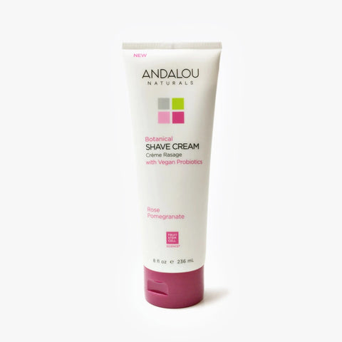 ANDALOU NATURALS - Botanical Shave Cream - Rose Pomegranate