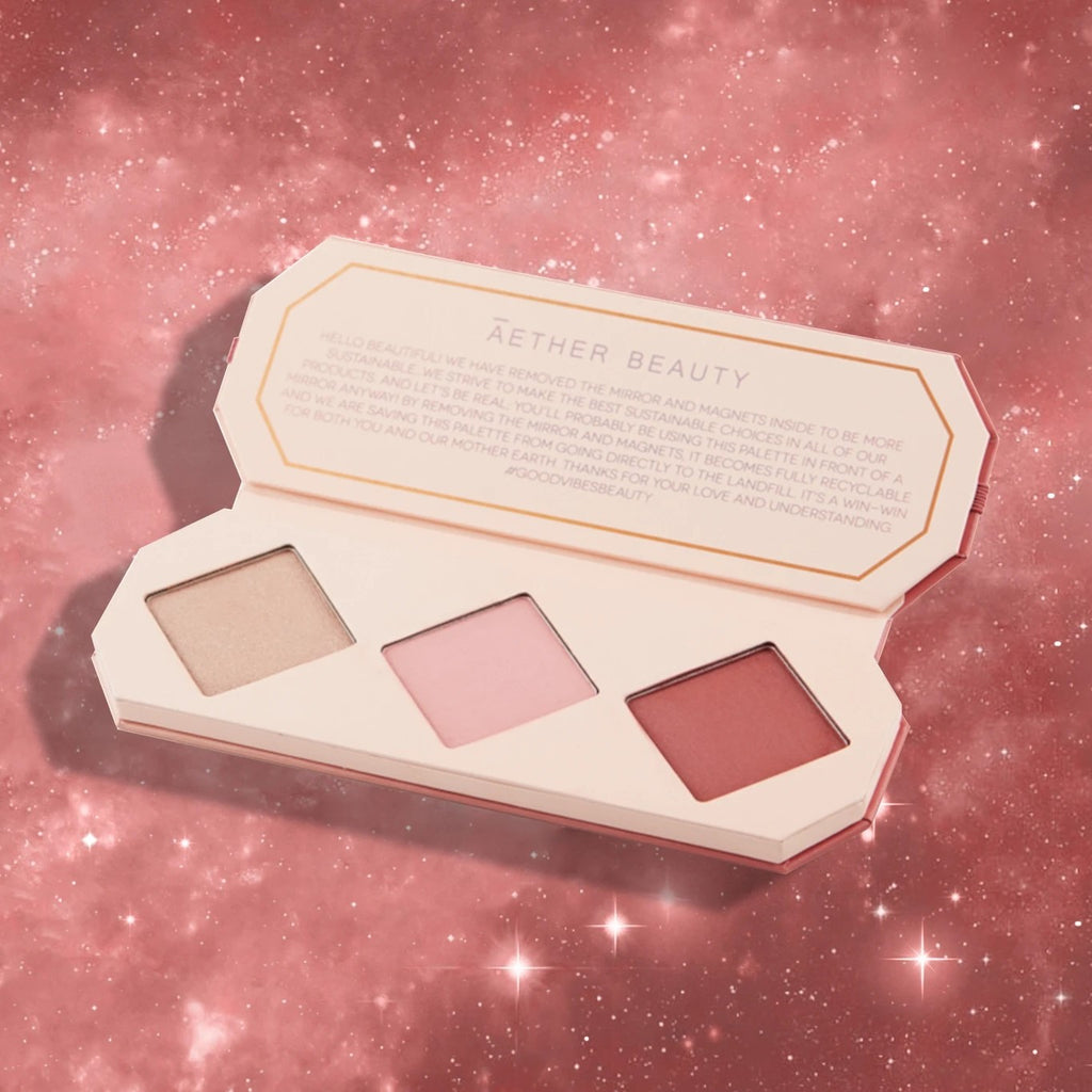 AETHER BEAUTY - Crystal Charged Cheek Palette - Ruby