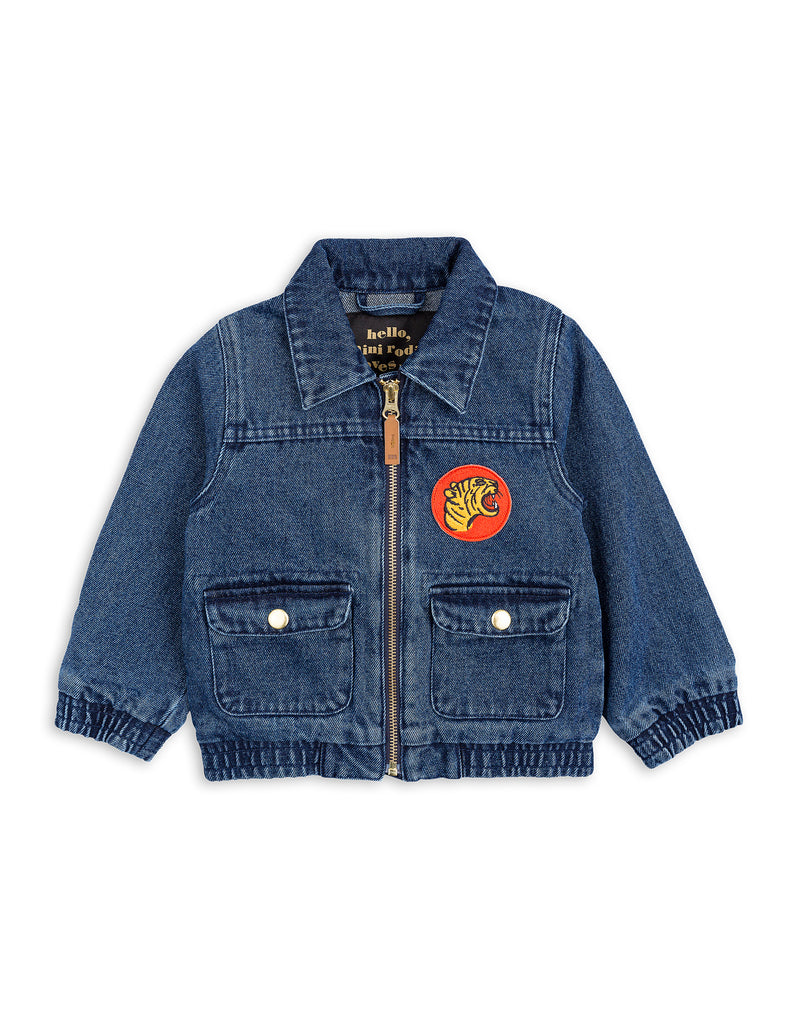 Mini Rodini Denim Tiger Jacket Afterpay Cool Kids Clothes