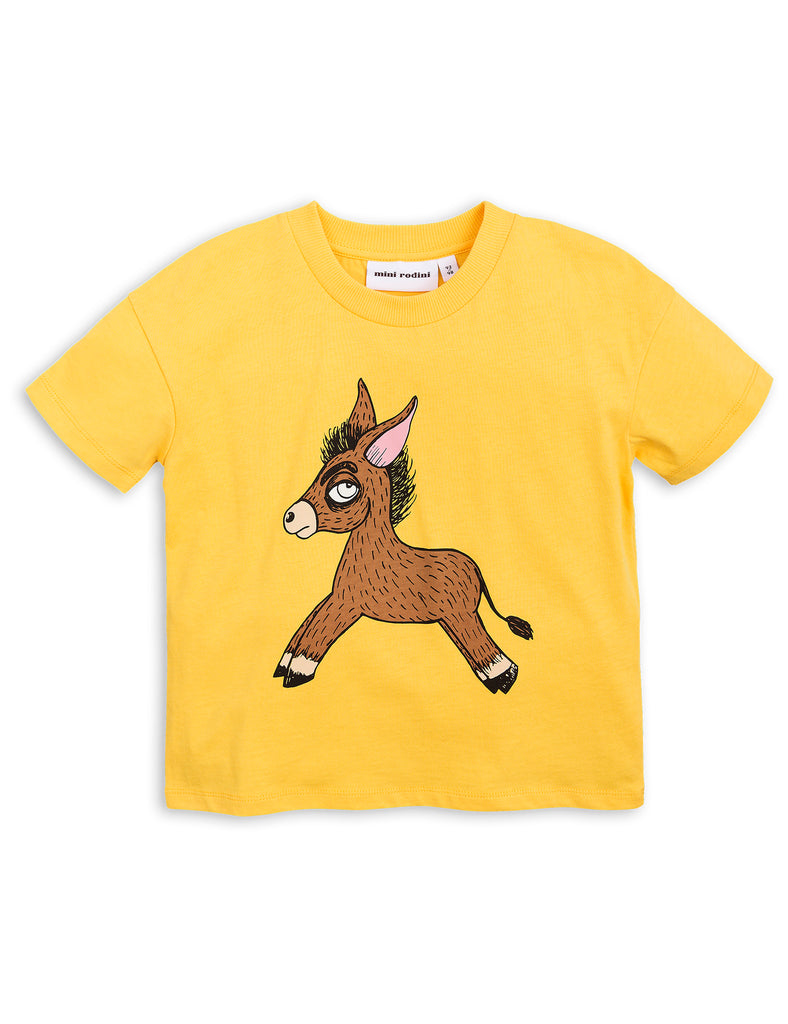 Mini Rodini Donkey Yellow Organic SS Tee Afterpay Cool Kids Clothes