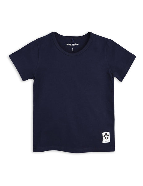Mini Rodini Basic Navy Organic SS Tee Afterpay Cool Kids Clothes