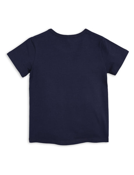 Mini Rodini Basic Navy Organic SS Tee Afterpay Australia