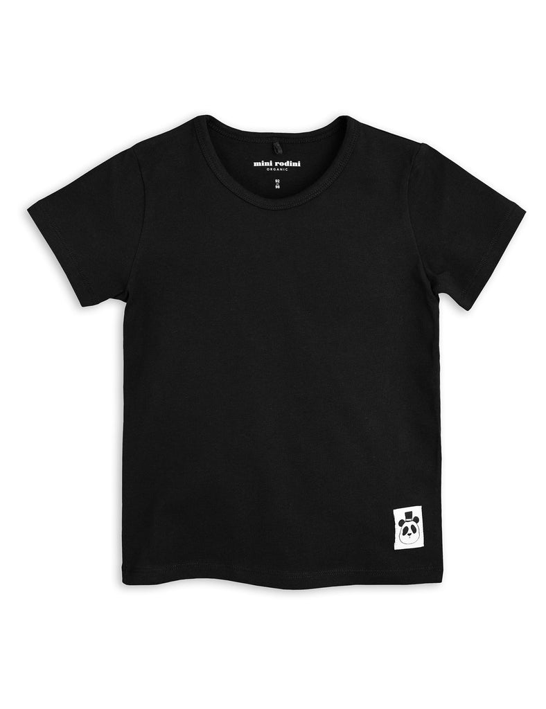 Mini Rodini Basic Black Organic SS Tee Afterpay Cool Kids Clothes