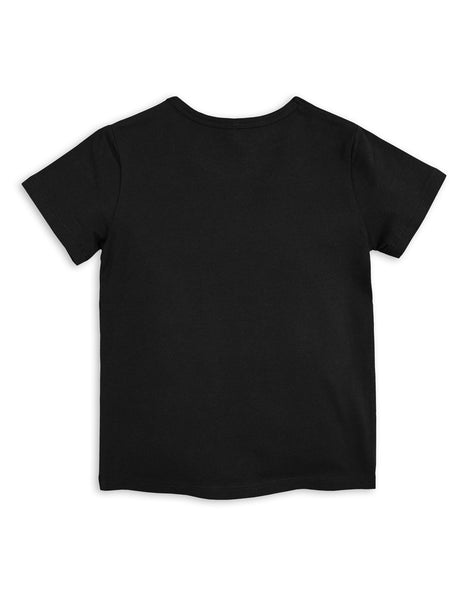 Mini Rodini Basic Black Organic SS Tee Afterpay Australia