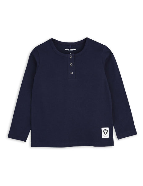 Mini Rodini Basic Navy Organic LS Tee Afterpay Cool Kids Clothes