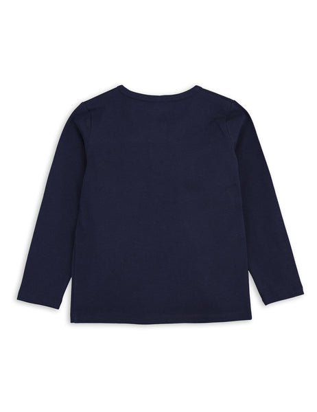Mini Rodini Basic Navy Organic LS Tee Afterpay Australia