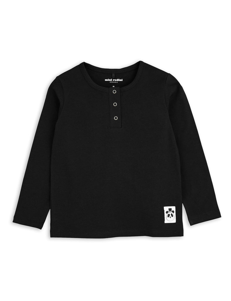 Mini Rodini Basic Black Organic LS Tee Afterpay Cool Kids Clothes