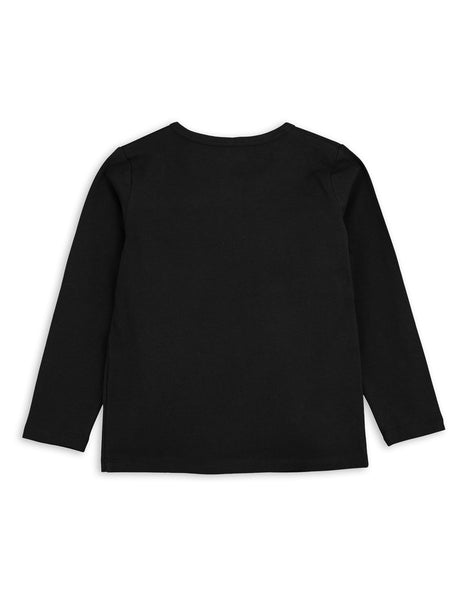Mini Rodini Basic Black Organic LS Tee Afterpay Australia