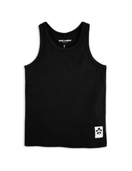 Mini Rodini Basic Black Organic Tank Afterpay Cool Kids Clothes