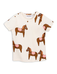 Mini Rodini Horse Pink Organic SS Tee Afterpay Cool Kids Clothes