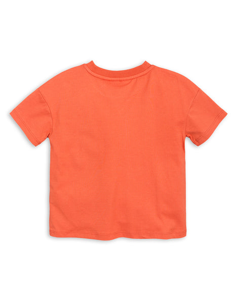 Mini Rodini Mother Earth Orange Organic SS Tee Afterpay Cool Kids Clothes Australia