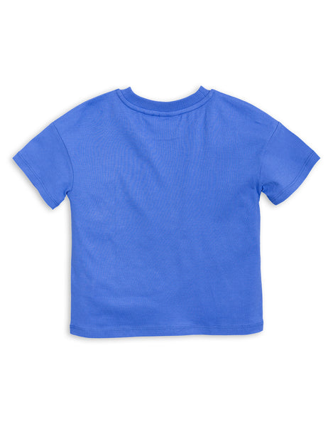 Mini Rodini Mother Earth Blue Organic SS Tee Afterpay Cool Kids Clothes Australia