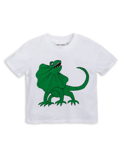 Mini Rodini Draco White Organic SS Tee Afterpay Cool Kids Clothes