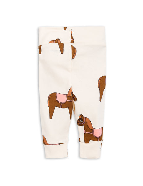 Mini Rodini Horse Pink Organic Newborn Leggings Afterpay Australia