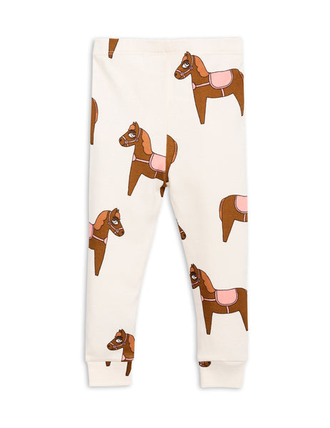 Mini Rodini Horse Pink Organic Leggings Afterpay Cool Kids Clothes Australia