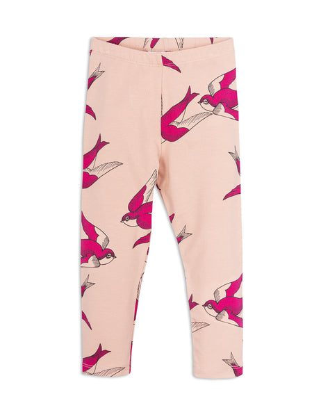 Mini Rodini Swallows Pink Organic Leggings Afterpay Cool Kids Clothes