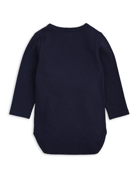 Mini Rodini Basic Navy Organic LS Bodysuit Afterpay Australia