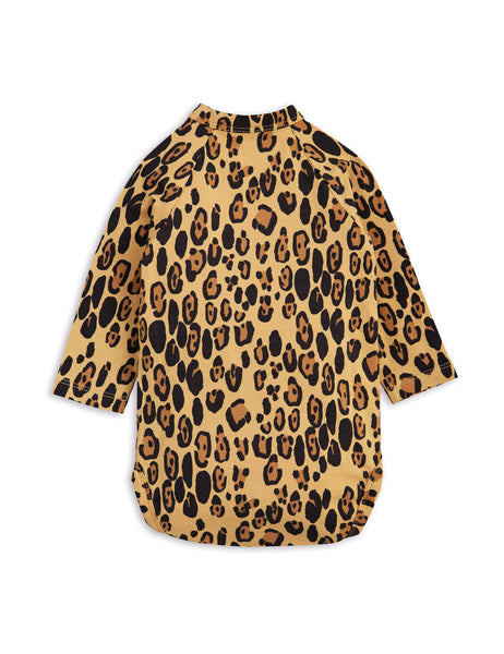 Mini Rodini Basic Leopard Organic LS Newborn Wrap Bodysuit Afterpay Australia