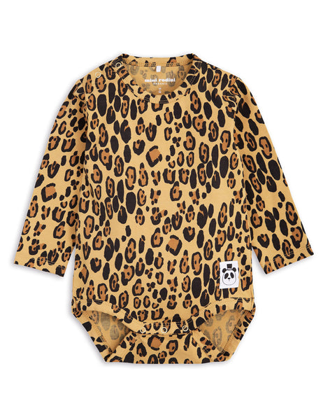 Mini Rodini Basic Leopard Organic LS Bodysuit Afterpay Cool Baby Clothes