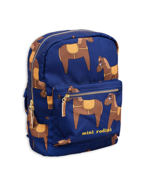 Mini Rodini Horse Navy Backpack Afterpay Cool Kids Clothes