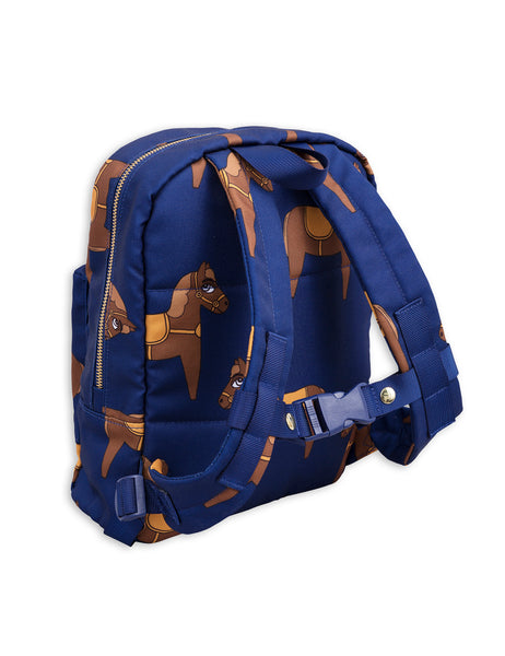 Mini Rodini Horse Navy Backpack Afterpay Cool Kids Clothes Australia