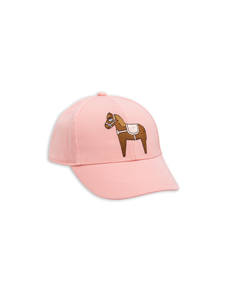 Mini Rodini Horse Pink Embroidery Cap Afterpay Cool Kids Clothes