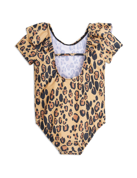 Mini Rodini Leopard SS Swimsuit Afterpay Cool Kids Clothes Australia