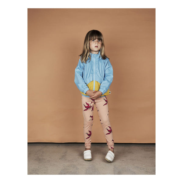 Mini Rodini Swallows Pink Organic Leggings Afterpay Cool Kids Clothes Australia
