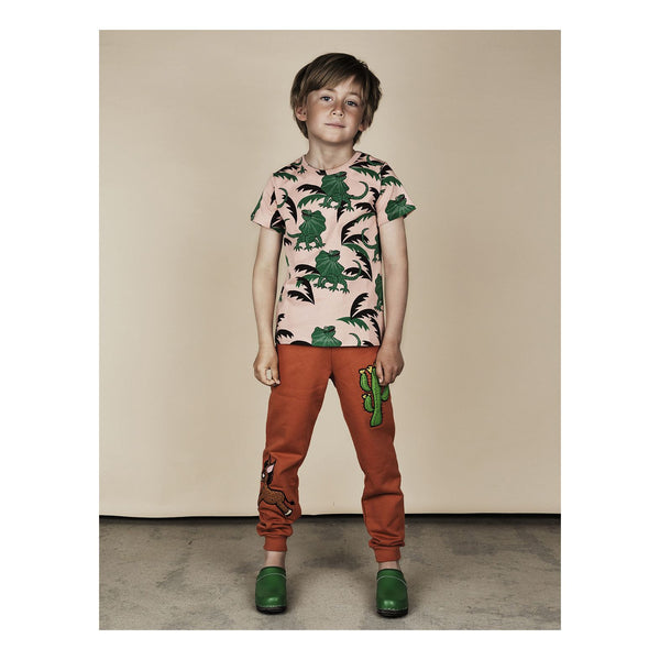 Mini Rodini Draco Green Organic SS Tee Cool Boys Clothes Australia