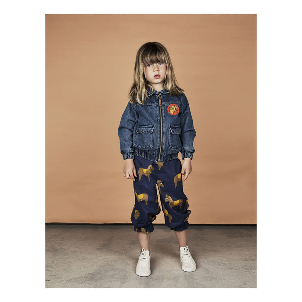 Mini Rodini Horse Navy Woven Bloomers Kids Clothes Online