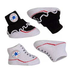 Baby Converse Chuck Taylor Newborn Frilly Knit Booties 2 Pack Black