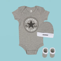 Baby Converse Chuck Taylor Newborn Set Heather Grey