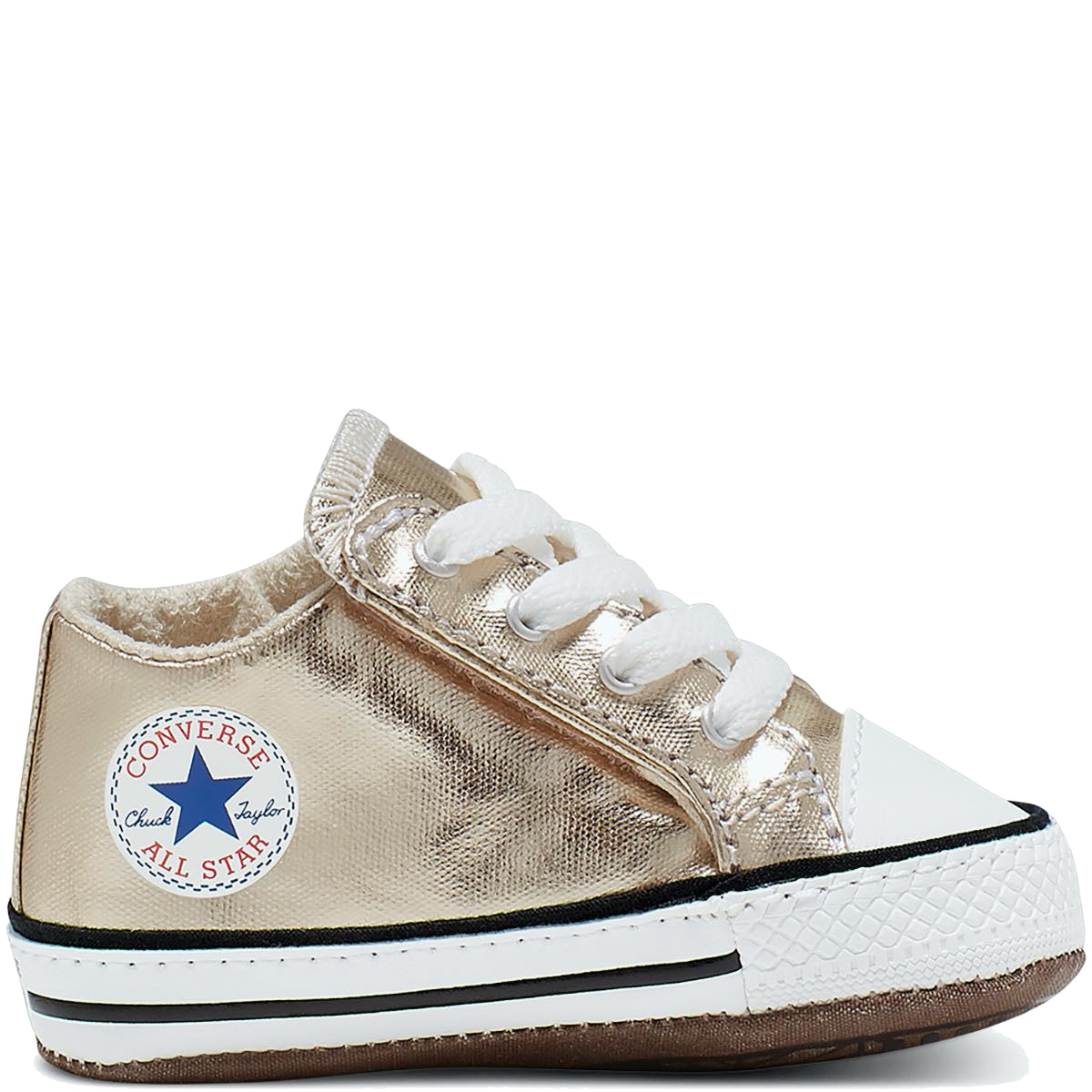 Baby Converse Chuck Taylor All Star Cribster Infant Mid Top Metallic Gold