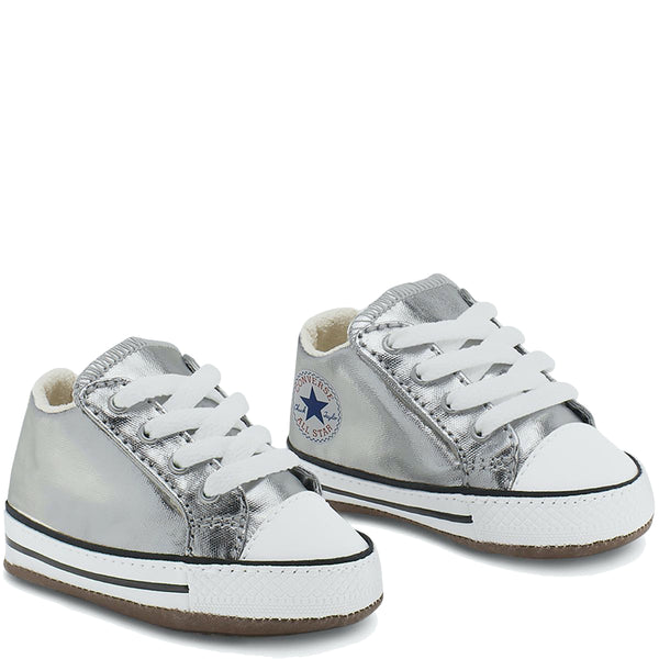 Baby Converse Chuck Taylor All Star Cribster Infant Mid Top Metallic Granite