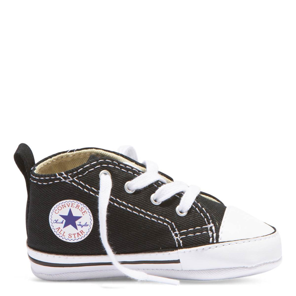 afb3bf9bb4db Baby Converse Chuck Taylor First Star Infant High Top Black Kids Shoes  Australia Afterpay