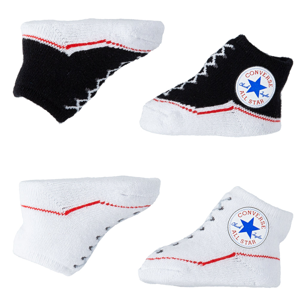 Baby Converse Chuck Taylor Newborn Knit Booties 2 Pack Black