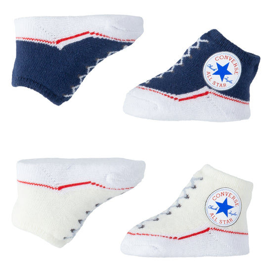 Baby Converse Chuck Taylor Newborn Knit Booties 2 Pack Navy