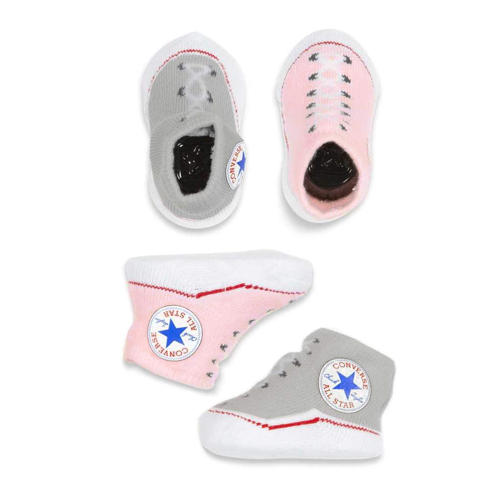 cdf236c8ef9d Baby Converse Chuck Taylor Newborn Knit Booties 2 Pack Pink Afterpay