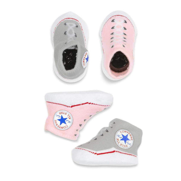 Baby Converse Chuck Taylor Newborn Knit Booties 2 Pack Pink Afterpay