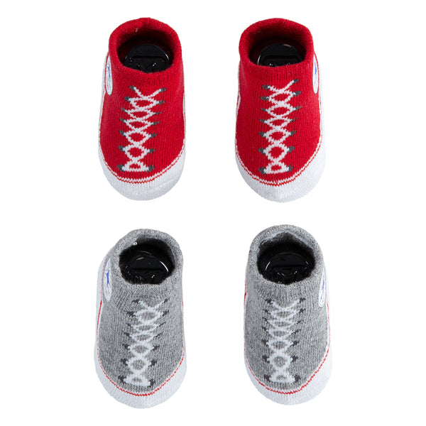 Baby Converse Chuck Taylor Newborn Knit Booties 2 Pack Red