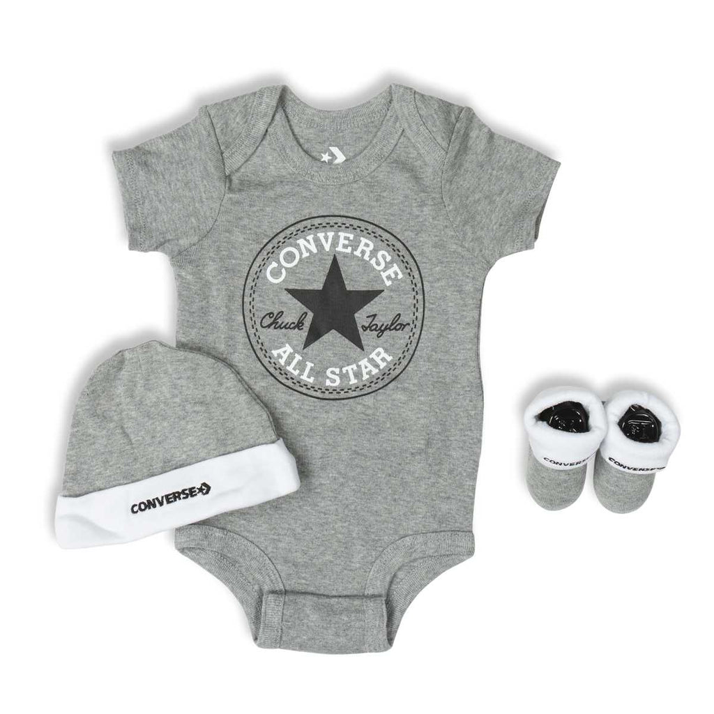 Baby Converse Chuck Taylor Newborn Set Heather Grey Afterpay