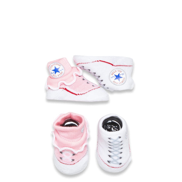 Baby Converse Chuck Taylor Newborn Frilly Knit Booties 2 Pack Pink Afterpay