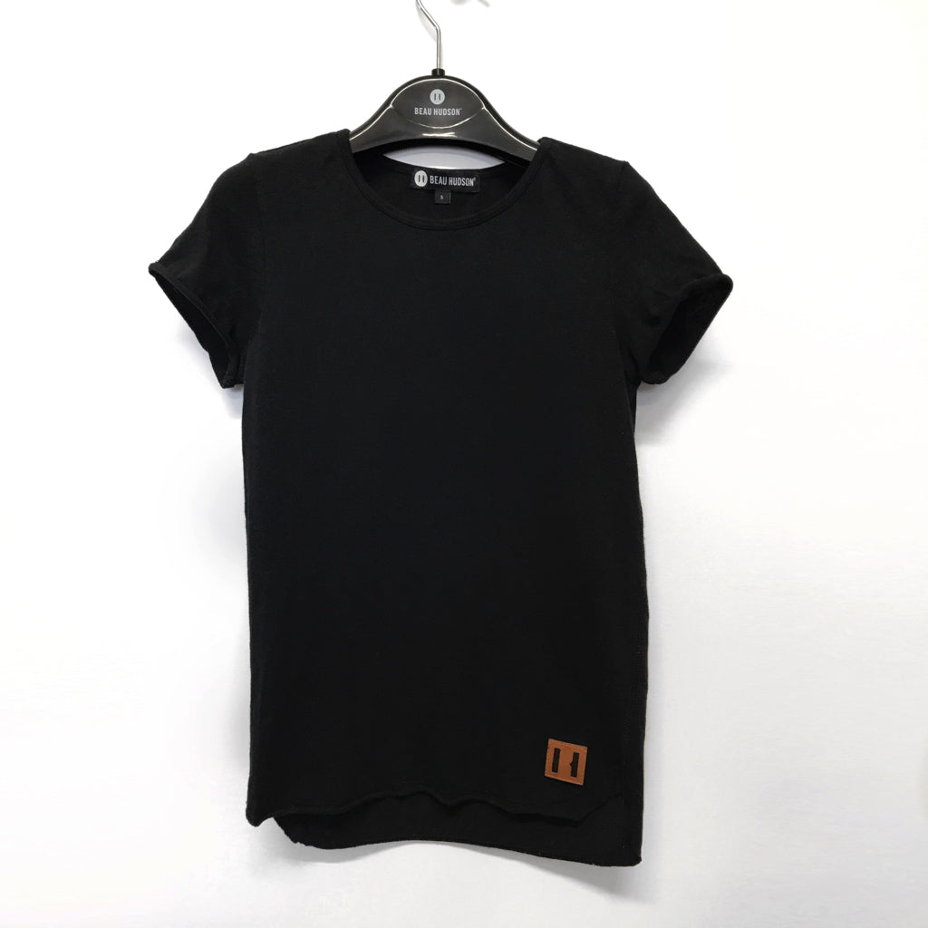 Beau Hudson Raw Edge Black Tall Tee Afterpay