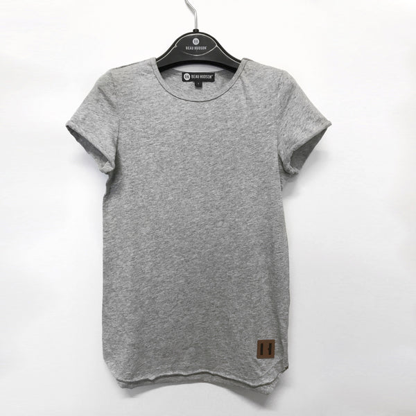 Beau Hudson Raw Edge Grey Marle Tall Tee | Size 1Y Last One