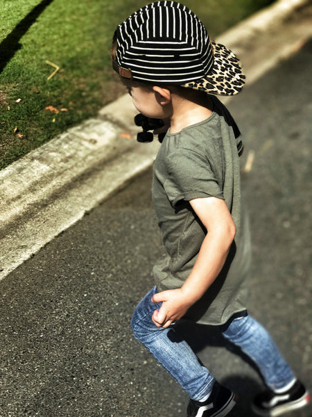 Beau Hudson Raw Edge Military Tall Tee Cool Toddler Clothes