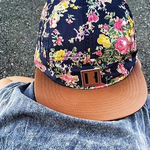 Beau Hudson Cap | Floral on Tan Afterpay