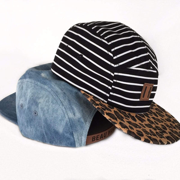 Beau Hudson Cap | Stripes on Leopard Afterpay