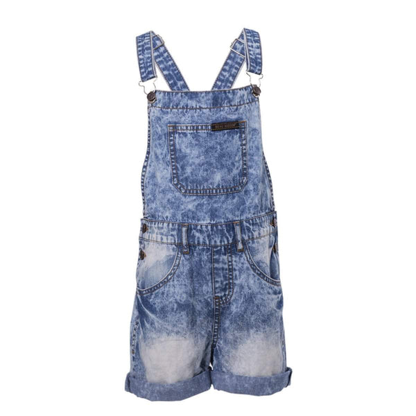 Beau Hudson Acid Wash Denim Overalls Afterpay